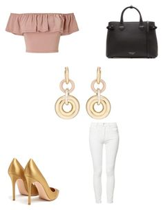 """""""alexa drop earrings"""" by bethanyyk on Polyvore featuring SPINELLI KILCOLLIN, Miss Selfridge, Mother, Gianvito Rossi and Burberry"""