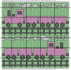 Free Train Afghan Pattern, Using graph as crochet instead of knit