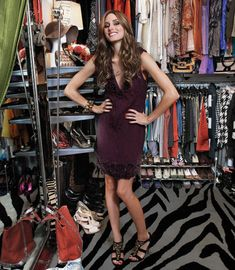 Olivia Palermo in her colorful walk-in closet #celebrity #closets