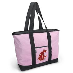 Washington State University Pink Tote Bag WSU Cougars - For Travel or Beach Best Unique Gift Ideas for Her, Women, or Ladies by Broad Bay. $24.99. Save 29% Off!