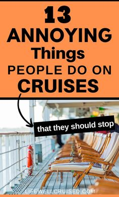 Most cruise passengers are awesome, but sometimes, there are a few people that will do some pretty annoying things on a cruise. This post calls them out, in good fun, but also serves as a warning and has some good cruise tips for any new cruisers. #cruise #cruisetips #cruises Best Cruise, Cruise Port, Cruise Tips, Cruise Travel, Annoying Things People Do, Cruise Ship Reviews, Caribbean Cruise, Annoyed, Travel Essentials