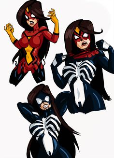 Just combining my love for drawing all things and all things women with just a pinch of Marvel Comics. The Bride of Venom Marvel Fan Art, Marvel Comics Art, Marvel Heroes, Marvel Characters, Spiderman Girl, Black Spiderman, Dc Comics Girls, Marvel Girls, Symbiotes Marvel