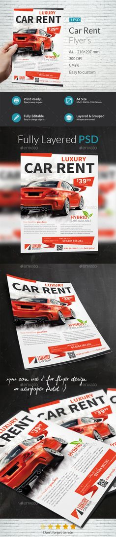 Car Rental Company Flyer Template PSD. Download here: http://graphicriver.net/item/car-rental-company-flyer-template/16682036?ref=ksioks