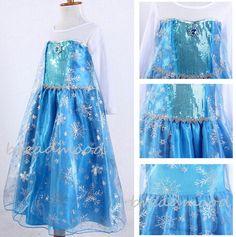 Child elsa dress Elsa Dres Frozen Elsa Costume by breadmood