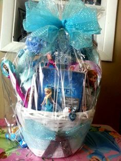 This is what im doing or at least something disney themed frozen easter basket negle Choice Image