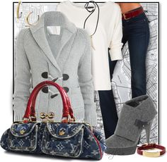 """""""Louis Vuitton Denim Bag"""" by sheryl-lee ❤ liked on Polyvore"""