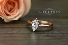 1.10 CT Marquise Solitaire Engagement Wedding Ring by Zhedora