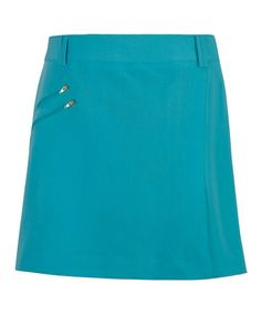 Look at this #zulilyfind! Turquoise Zipper A-Line Skirt by Sport Haley #zulilyfinds