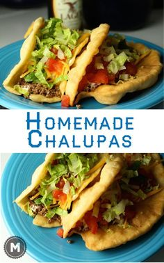These homemade chalupa shells can be filled pretty much any Tex-Mex filling! @macheesmo