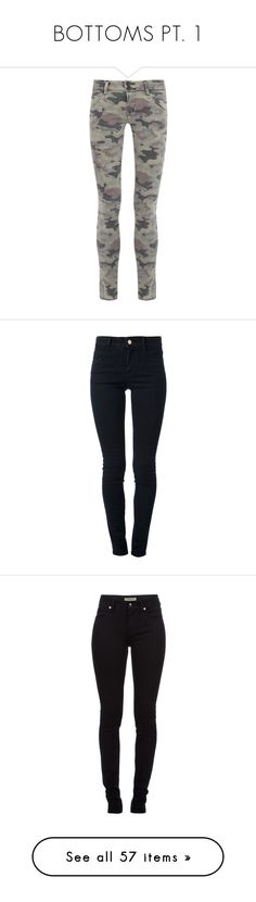 """""""BOTTOMS PT. 1"""" by elisadevarrow ❤ liked on Polyvore featuring jeans, pants, jeans / pants / leggings, trousers, calças, green and other, colorful skinny jeans, super skinny jeans, camo print skinny jeans and green jeans"""