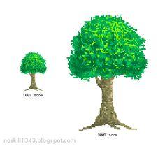 tutorial make tree pixel art