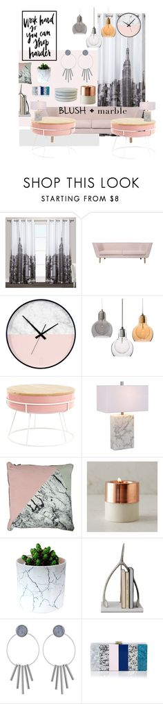 """Work hard so you can shop harder"" by copiedandpasted ❤ liked on Polyvore featuring interior, interiors, interior design, home, home decor, interior decorating, Exclusive Home, Mariana Lighting, WALL and Milly"