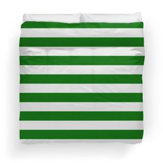 Green and White Hoops Banded Design