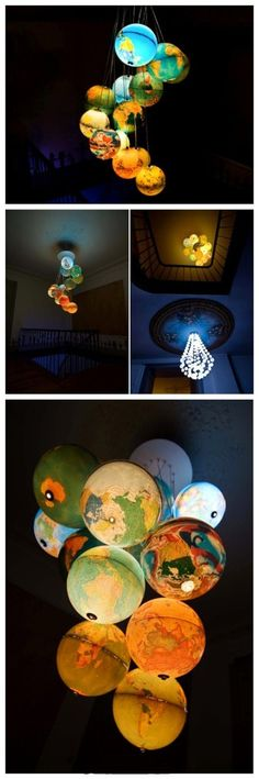 Dream small universe globe chandelier @Alyssa Doll we should use this for our house!