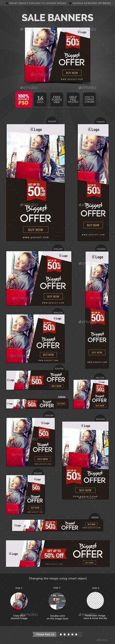 Buy Sale Banners by Hyov on GraphicRiver. Promote your Products and services related to any sale with this great looking Banner Set. Web Design, Web Banner Design, Web Banners, Event Poster Template, Banner Template, Brochure Layout, Brochure Design, Web Inspiration, Graphic Design Inspiration