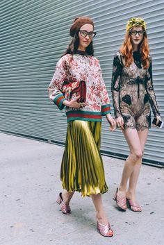 Fashion Alert: Metallic Pleated Midi Skirt