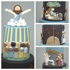 Amazing cake featuring the life of Jesus
