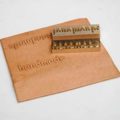 Female-male stamp Leather stamp emboss brand by ArtisansOnline