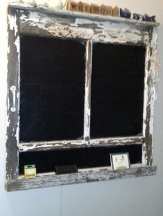 Old screen door used for a chalk board