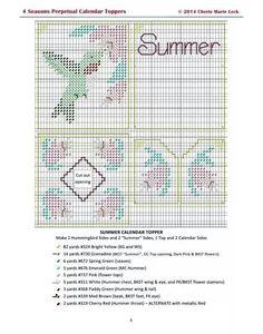 4 Seasons Perpetual Calendar Toppers