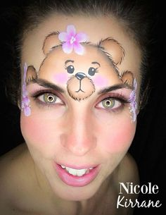 Cute Teddy Bear Face Paint