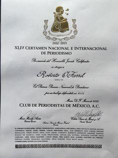 Roberto O'Farrill C. (@robertoofarrill) | Twitter Premio Nal de Periodismo