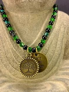 Beaded Necklace Tree Of Life Button Closure.