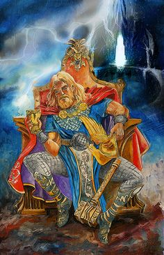 Thor, o Deus do Trovão. Óleo s/tela, 70x45cm