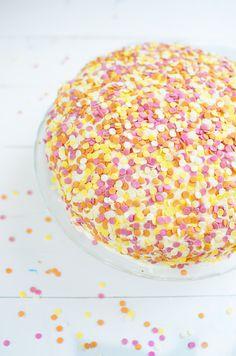 Classic confetti cake