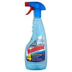 Windolene, 4-action glass cleaner. Dissolves grease, lifts off dirt, cleans with…