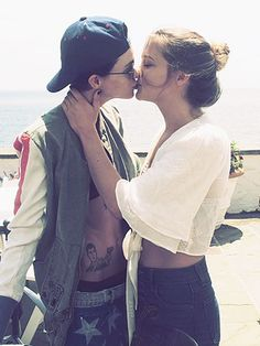 New Couple Ruby Rose and Harley Gusman Share Independence Day Smooch http://www.people.com/article/ruby-rose-harley-gusman-kiss