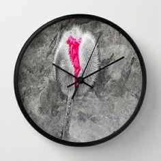 Opening Poppy Wall Clock by Lynn Bolt - $30.00