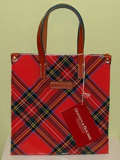 Dooney & Bourke Plaid Purse or Lunch Bag