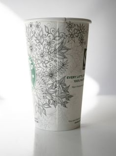 I have to do this w/my Starbucks Cup. Art.