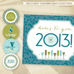 items similar to hello new year hostess holiday essentials printable party collection on etsy