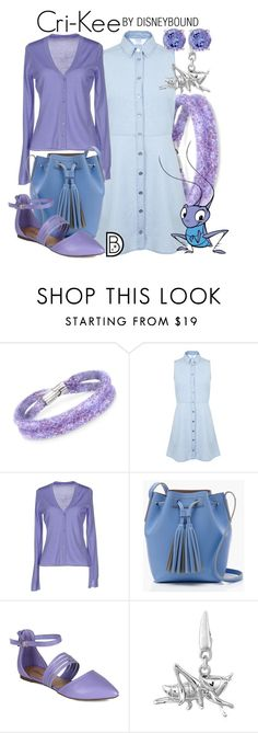 """Cri-Kee"" by leslieakay ❤ liked on Polyvore featuring Swarovski, Miss Selfridge, Maria Di Ripabianca, J.Crew, Blue Nile, disney and disneybound"