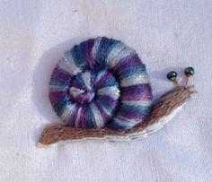 Stumpwork Snail :)