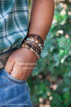 Men's Bohemian Bracelet, #VintageRoseGallery #etsy #Testosterone Gift for Him, Surf Bracelet, Amazonite Bracelet by VintageRoseGallery Men's Jewellery, Etsy Jewelry, Boho Jewelry, Bohemian Bracelets, Bracelets For Men, Etsy Vintage, Vintage Shops, Etsy Handmade, Handmade Items