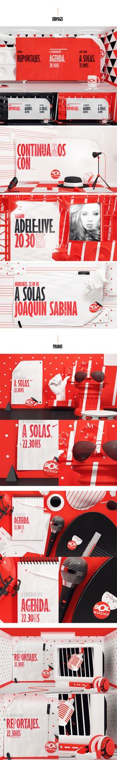 Sol Musica. Music Channel Rebranding / Pitch design styleframes. By weareplace via Behance