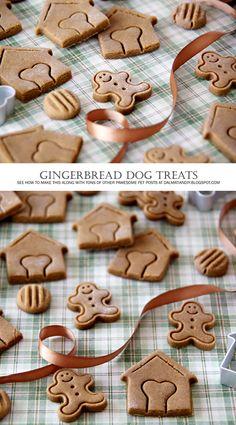 Christmas Dog Treat Recipes - {RECIPE} Peanut Butter and Molasses Gingerbread Christmas Dog Treats
