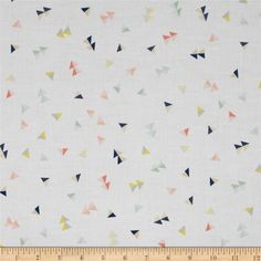 Cloud 9 Organic Let's Have A Party Voile Escapade from @fabricdotcom  Designed by Avril Loreti for Cloud 9 Fabrics, this organic cotton print voile fabric has a soft hand, excellent drape, and is slightly sheer. This fabric is perfect for apparel such as blouses, tunics and dresses. This fabric has GOTS certification. Colors include navy, coral, peach, yellow, grey, mint and white.