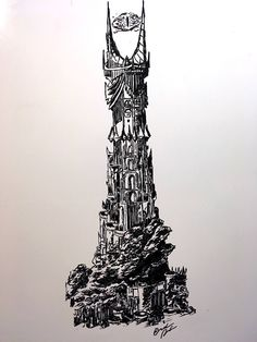 "Dry Erase ""Sauron's Tower"" Drawing HD Print by RebelWhiteboardArt on Etsy https://www.etsy.com/listing/532239711/dry-erase-saurons-tower-drawing-hd-print"
