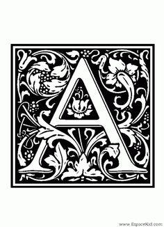 Alphabet médiéval - Lettrines