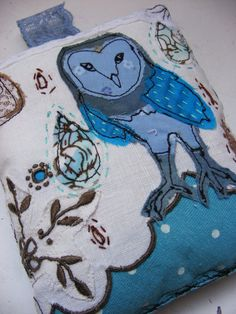 Jenny Blair/loveandpeascreations - Handmade decorative owl cushion