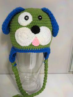 puppy crochet beanie
