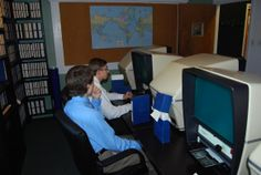 microfiche viewing room