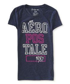 Camiseta Aeropostale Feminina STACKED AERO SHINE - Marinho - Figo Verde: Roupas importadas originais #aeropostale feminina #camiseta feminina #camisetas femininas #loja aeropostale #moda feminina #roupas femininas #blusas femininas #camisas femininas