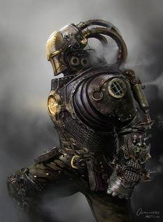 Concept Art: Steampunk Iron Man - Concept art, Sci-fiCoolvibe – Digital Art Concept Art by Mateusz Ozminski, Poland.