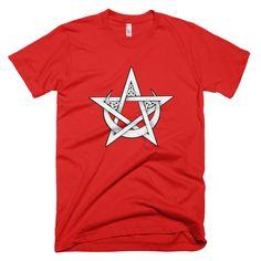 """Pentacle and Crescent Moon"" Men's T-Shirt"