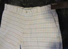 Perry Ellis Men's Shorts SZ 42, 100% Cotton, Dress Shorts, Flat, New with tags! #PerryEllis #DressShorts